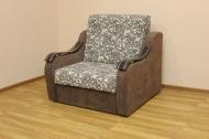 Адель, кресло-кровать в ткани ажур беж браун и однотон