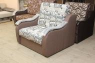 Адель, кресло-кровать в ткани экшен 02 и однотон