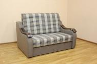 Адель 1,2, диван в ткани шотландия кофе и однотон