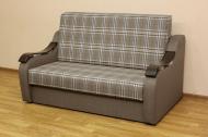 Адель 1,2 диван в ткани шотландия кофе и однотон
