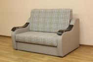 Адель 120, диван в ткани шотландия мокко и однотон