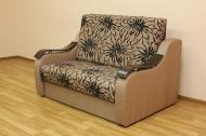 Адель 1,2 диван в ткани саванна флок голд браун 05 и саванна нова голд браун