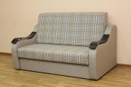 Адель 140, диван в ткани шотландия мокко и однотон