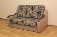 Адель 140, диван в ткани саванна флок голд браун и крокус 05
