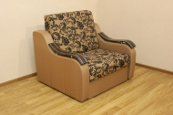 Адель, кресло-кровать в ткани нео флок голд браун и нео голд браун
