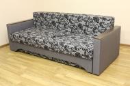 Алекс 1,4, диван в ткани нео флок грей и нео дк грей