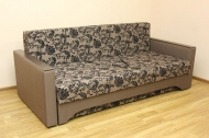 Алекс 1,4, диван в ткани нео флок капучино и нео кофе