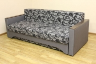 Алекс 1,6, диван в ткани нео флок грей и нео дк грей