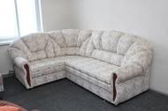 Алиса, угловой диван в ткани индиана беж