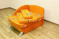 Антошка, диван в ткани мики оранж и однотон