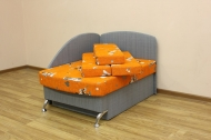 Антошка, диван в ткани мики оранж и серый однотон