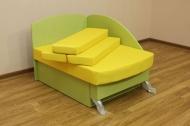 Антошка, диван в ткани пленет лимон и грин