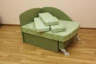 Антошка, диван в ткани ренессанс грин и однотон