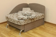 Антошка, диван в ткани салют браун и однотон