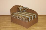 Анюта, диван в ткани лео 42 и однотон