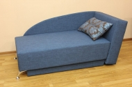 Денди, диван в ткани ренуар фловерс блу и однотон