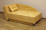 Денди, диван в ткани замша цветок желтый и однотон