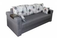 Дуэт , диван в ткани пандора грей и однотон