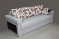 Дуэт, диван в ткани принт 2а и артемик грей