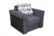Дуэт, кресло-кровать в ткани бридж и софтинес ковиар