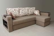 Дуэт, угловой диван в ткани манчестер гарден и однотон