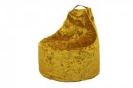 Дюшес, кресло-мешок в ткани яшма золотая