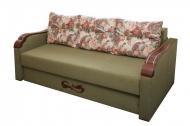 Этюд, диван в ткани делиция браун и шеги ява