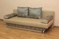 Форсаж, диван в ткани доменика мокко и линен голд