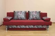 Форсаж, диван в ткани сахара бордо и розалинда 203 бордо