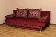 Форсаж, диван в ткани зодиак вайн и однотон