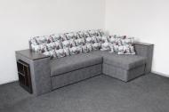 Карен, угловой диван в ткани бридж и альфа грей