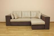 Карен, угловой диван в ткани крип 02 и мисти шоко