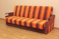 Книжка Д, диван в ткани пуффи оранж полоса