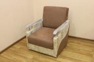 Книжка Д кресло в ткани софия капучино и омега вайт