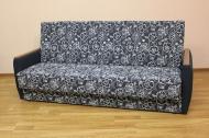 Книжка, диван в ткани сабрина синяя и однотон