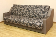 Книжка Н, диван в ткани нео флок капучино и однотон