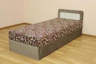Кровать 08 блок, в ткани вельвет браун и мисс 02