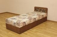 Кровать 08 блок в ткани нео флок голд браун и анемон плн браун