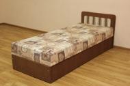 Кровать 0,8 блок, в ткани ностальжи и однотон браун