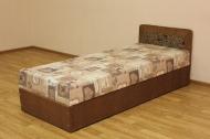 Кровать 08 блок в ткани рамона браун и анемон плн браун