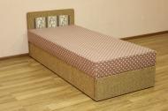 Кровать 08 блок в ткани вульф беж и версаль браун -1