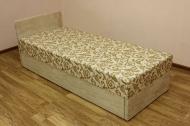 Кровать 0,8 (эконом блок) в ткани замша беж
