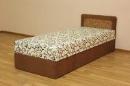 Кровать 0,8 эконом блок в ткани зодиак браун и однотон