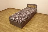 Кровать 80 блок в ткани германо браун и вставка