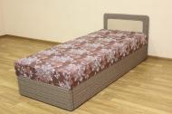 Кровать 80 эконом блок в ткани астра вей карамель и салют комби браун - 1