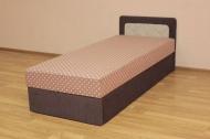 Кровать 80 эконом блок в ткани салют беж и соло шоколад