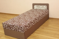 Кровать 80 экономблок в ткани германо браун - 1