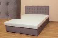 Белла 140, кровать в ткани доминик инк и жакард