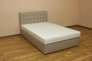 Белла 140, кровать в ткани кожзам ибица какао