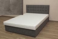 Белла 140, кровать в ткани сенд 30 грей
